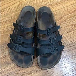 Black Florida Birkenstock sandals size 38